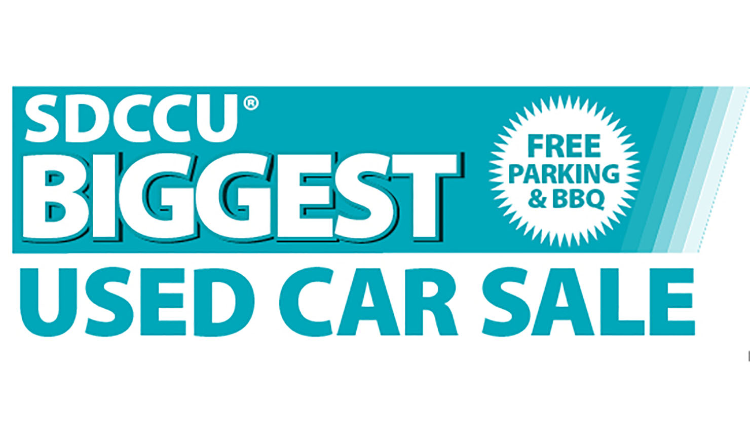 sdccu biggest used car sale poster