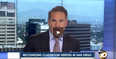 youtube screenshot of classroom heroes news
