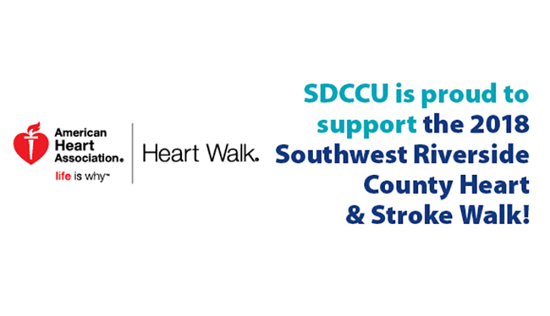 sdccu supports american heart and stroke walk