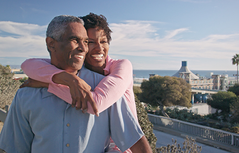 older couple enjoying their vacation overseas thanks to sdccu great rate savings account